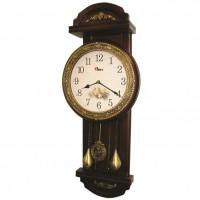 Классические настенные часы Sinix-2028G (циферблат под золото)