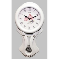 Большие настенные часы с маятником Sinix 2136W
