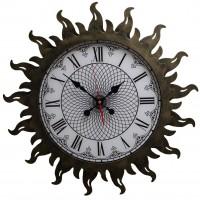Настенные часы Династия 07-010 Стальное Солнце