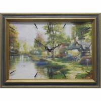 Часы картины Династия 04-005-01 Домик у реки
