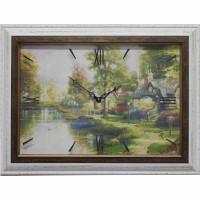 Часы картины Династия 04-005-11 Домик у реки