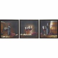 Модульная картина Династия 06-026-02 Красное вино