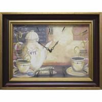 Часы картины Династия 04-008-14 Кофе