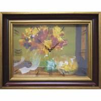 Часы картины Династия 04-012-14 Осенний букет