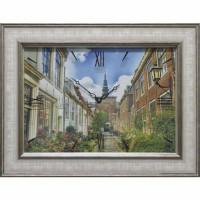 Часы картины Династия 04-014-15 Улица в Голландии