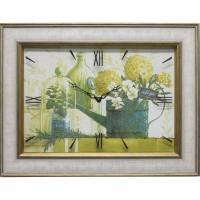 Часы картины Династия 04-023-06 Зеленый натюрморт