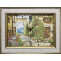 Часы картины Династия 04-030-06 Уютный дворик