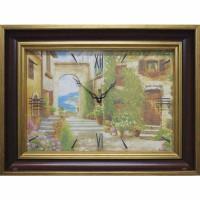Часы картины Династия 04-030-14 Уютный дворик