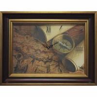 Часы картины Династия 04-035-14 Старинная карта