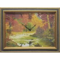 Часы картины Династия 04-036-01 Осенний лес