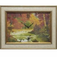 Часы картины Династия 04-036-06 Осенний лес