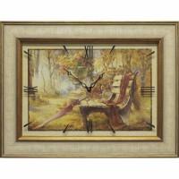 Часы картины Династия 04-037-06 Осенний парк