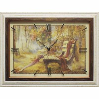 Часы картины Династия 04-037-11 Осенний парк