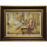 Часы картины Династия 04-037-14 Осенний парк