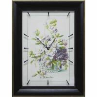 Часы картины Династия 04-041-02 Цветочная корзина