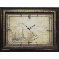 Часы картины Династия 04-043-12 Старый корабль