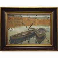 Часы картины Династия 04-045-14 Лодки