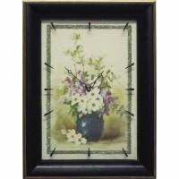 Часы картины Династия 04-049-02 Цветы в вазе