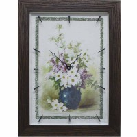 Часы картины Династия 04-049-05 Цветы в вазе
