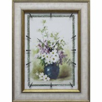 Часы картины Династия 04-049-06 Цветы в вазе