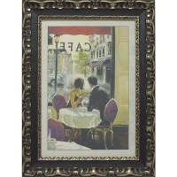 Часы картины Династия 05-001-07 Завтрак в кафе