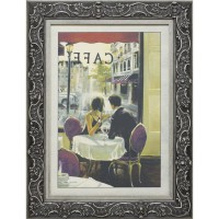 Часы картины Династия 05-001-09 Завтрак в кафе