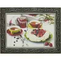 Часы картины Династия 05-004-09 Клубничный десерт