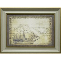 Часы картины Династия 05-007-03 Морская экспедиция