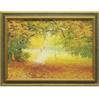 Часы картины Династия 05-013-01 Осенняя прогулка