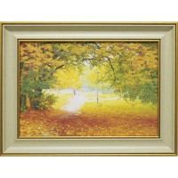 Часы картины Династия 05-013-03 Осенняя прогулка
