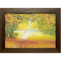 Часы картины Династия 05-013-05 Осенняя прогулка