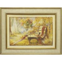 Часы картины Династия 05-014-06 Лавочка в парке