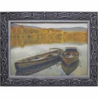 Часы картины Династия 05-018-07 Лодки у берега