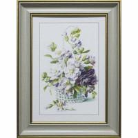 Картина для дома Династия 05-024-03 Цветы в плетенной корзине