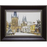 Часы картины Династия 05-025-10 Зимняя Прага