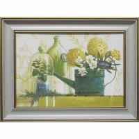 Часы картины Династия 05-035-03 Зеленый натюрморт