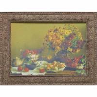 Часы картины Династия 05-038-08 Осенний натюрморт