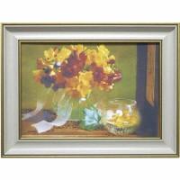 Часы картины Династия 05-041-03 Осенний букет