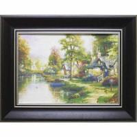 Часы картины Династия 05-045-10 Домик у реки