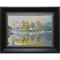 Часы картины Династия 05-047-10 Дом у пруда