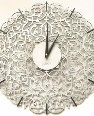 Настенные часы jclock JC10-33 засечки Икониум (серебро)